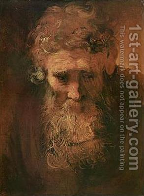 Study of an Old Man by Harmenszoon van Rijn Rembrandt - Reproduction Oil Painting