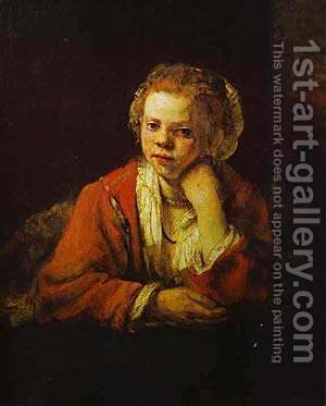 Young Girl At The Window 1651 by Harmenszoon van Rijn Rembrandt - Reproduction Oil Painting