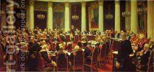 Ceremonial Meeting Of The State Council 1903 by Ilya Efimovich Efimovich Repin - Reproduction Oil Painting