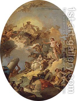 The Apotheosis of the Spanish Monarchy sketch for a ceiling painting by Giovanni Battista Tiepolo - Reproduction Oil Painting