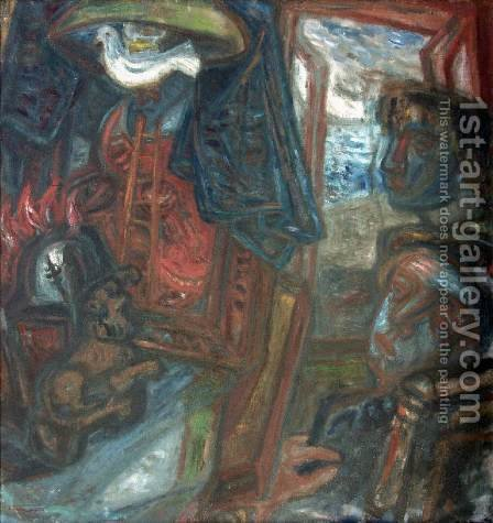Dark times 1940 by Gyula Hincz - Reproduction Oil Painting