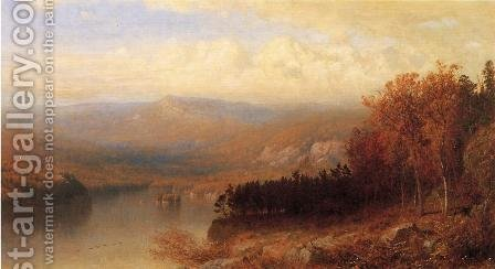 Adirondack Scene in Autumn 1871 1872 by Alexander Helwig Wyant - Reproduction Oil Painting