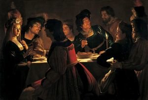 Reproduction oil paintings - Gerrit Van Honthorst - The Wedding Supper