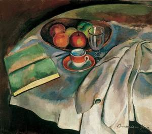 Still life with White Tablecloth 1919