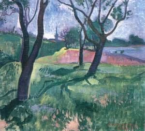 Trees in the Wet Grass 1908