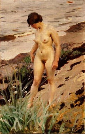 Nude by the Shore 1914
