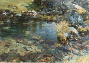 Reproduction oil paintings - Sargent - Alpine Pool 1907