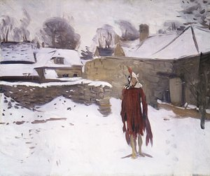 Reproduction oil paintings - Sargent - Mannikin in the Snow