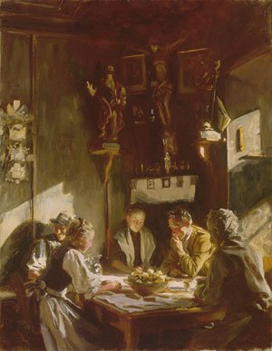 Reproduction oil paintings - Sargent - Tyrolese Interior 1915