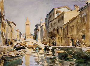 Reproduction oil paintings - Sargent - Venetian Canal 1913