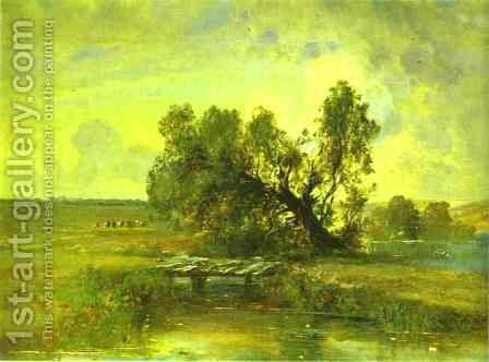 After A Thunderstorm 1870s by Alexei Kondratyevich Savrasov - Reproduction Oil Painting