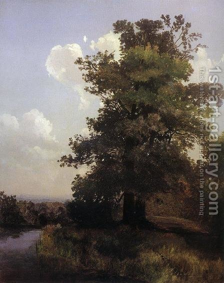Oaks 1855 by Alexei Kondratyevich Savrasov - Reproduction Oil Painting