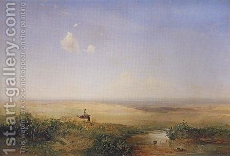 The Steppe In Daytime 1852 by Alexei Kondratyevich Savrasov - Reproduction Oil Painting