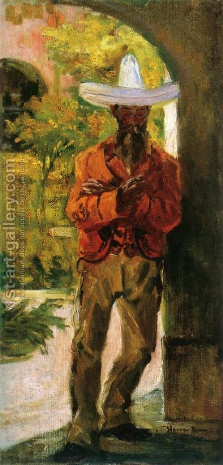 Man with a Hat by Herrer Cesar - Reproduction Oil Painting