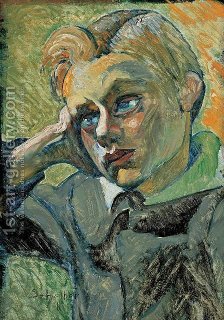 Bending Boy 1920 23 by Gyula Batthyany - Reproduction Oil Painting