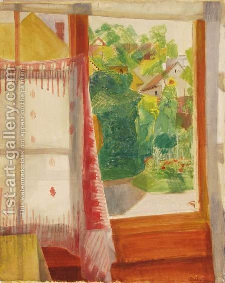 Szentendre from a Window by Hugo Scheiber - Reproduction Oil Painting
