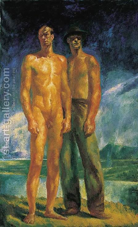 At the Peak 1925 by Istvan Desi-Huber - Reproduction Oil Painting