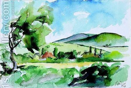 Landscape 1919 by Istvan Desi-Huber - Reproduction Oil Painting