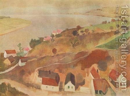 Landscape at Zebegeny 1935 36 by Istvan Desi-Huber - Reproduction Oil Painting