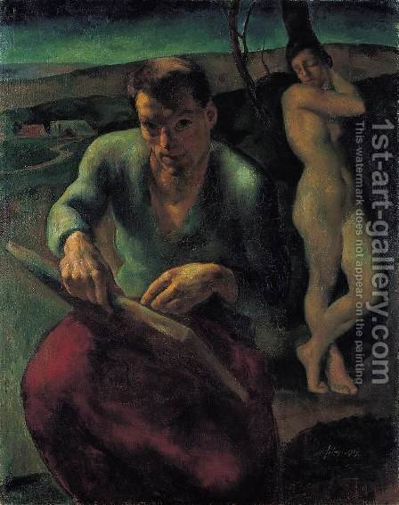 Self Portrait 1919 by Istvan Desi-Huber - Reproduction Oil Painting