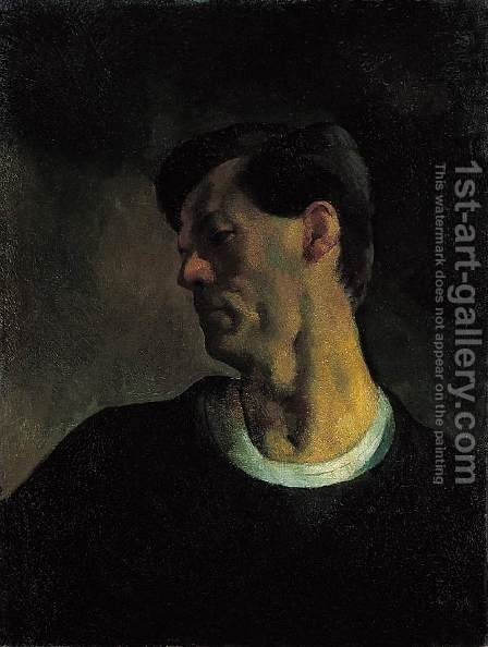 Self portrait 1921 by Istvan Desi-Huber - Reproduction Oil Painting