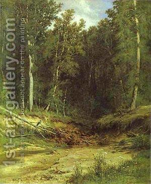 Forest Stream 1874 by Ivan Shishkin - Reproduction Oil Painting