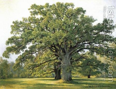 Oaks In Old Peterhof 1891 by Ivan Shishkin - Reproduction Oil Painting