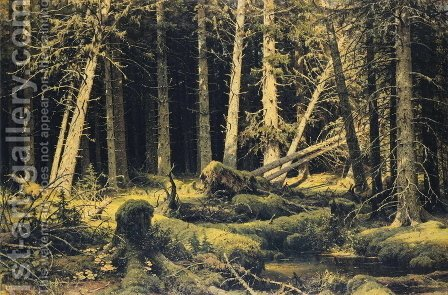 Wind Fallen Trees 1888 by Ivan Shishkin - Reproduction Oil Painting