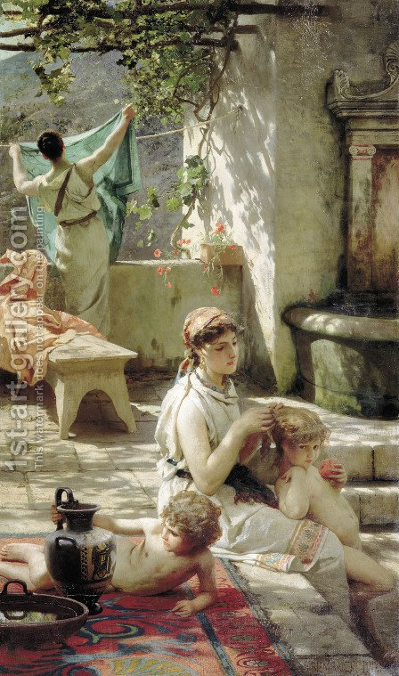 By A Pool 1895 by Henryk Hector Siemiradzki - Reproduction Oil Painting