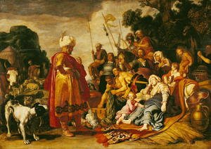 Reproduction oil paintings - Pieter Pietersz. Lastman - Laban Searching for the Idols