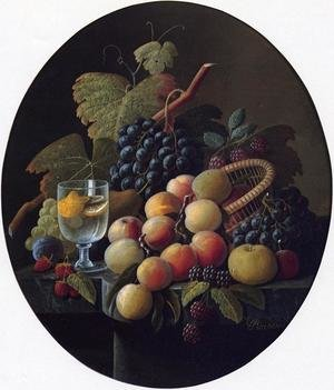 Still Life with Fruit and Wine Glass Date unknown 2