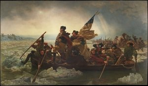 Famous paintings of Nautical: Washington Crossing the Delaware River 25th December 1776 1851