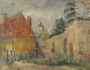 Carlton Alfred Smith reproductions - Street at Szentendre 1938