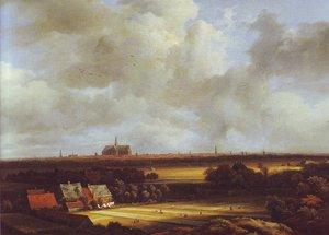 Jacob Van Ruisdael reproductions - View of haarlem with bleaching grounds2