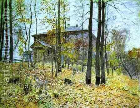 Autumn The Manor 1894 by Isaak Ilyich Levitan - Reproduction Oil Painting