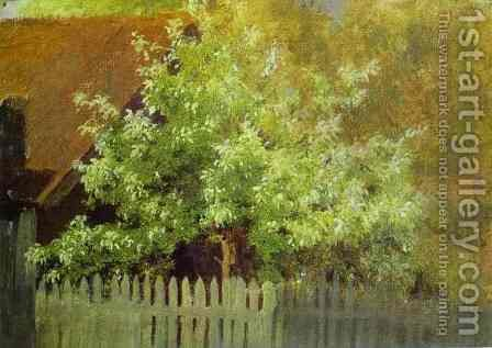 Bird Cherry Tree 1885 by Isaak Ilyich Levitan - Reproduction Oil Painting
