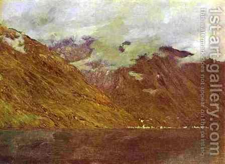 Lake Como 1894 by Isaak Ilyich Levitan - Reproduction Oil Painting