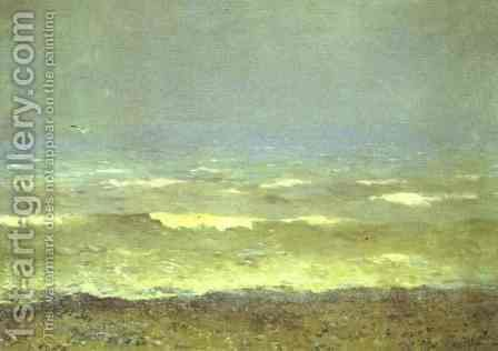 Mediterranean Seacoast 1890 by Isaak Ilyich Levitan - Reproduction Oil Painting
