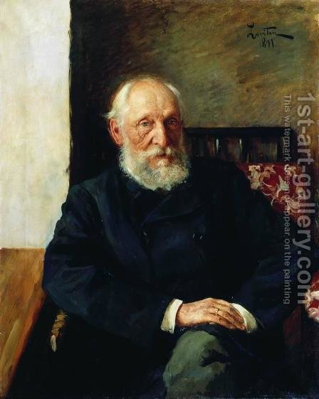 Portrait of Nikolay Panafidin 1891 by Isaak Ilyich Levitan - Reproduction Oil Painting