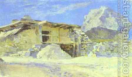 Saklia in Alupka Study 1886 by Isaak Ilyich Levitan - Reproduction Oil Painting