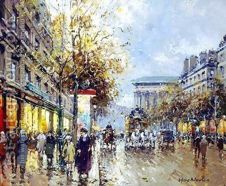 Boulevard de la Madeleine by Agost Benkhard - Reproduction Oil Painting