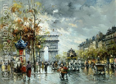 l Arc de Triomphe by Agost Benkhard - Reproduction Oil Painting