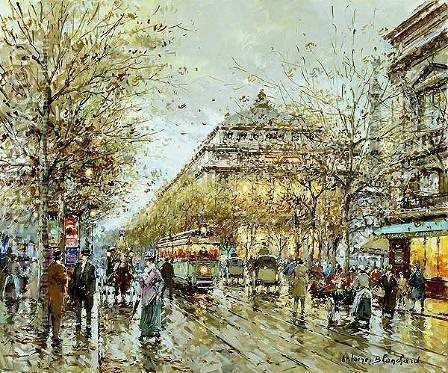 Paris Le Chatelet by Agost Benkhard - Reproduction Oil Painting