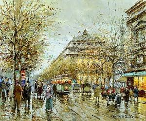 Famous paintings of Trams: Paris Le Chatelet