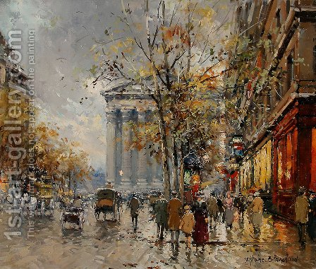 Rue Royale Madeleine2 by Agost Benkhard - Reproduction Oil Painting