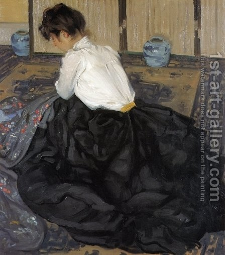 An Arrangement 1901 by Alfred Henry Maurer - Reproduction Oil Painting