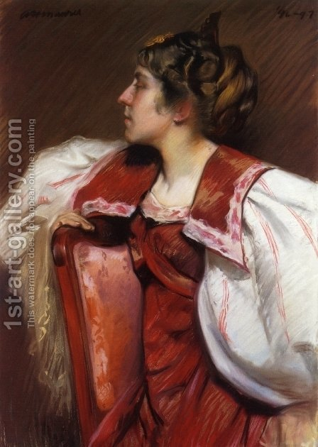 Eugenia Maurer 1897 by Alfred Henry Maurer - Reproduction Oil Painting