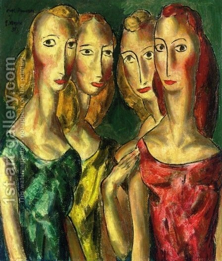Four Sisters 1931 by Alfred Henry Maurer - Reproduction Oil Painting