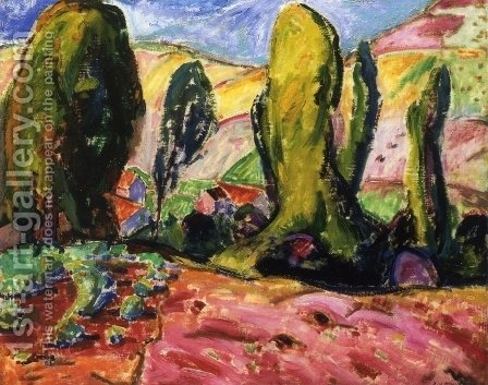 Landscape aka Autumn 1909 by Alfred Henry Maurer - Reproduction Oil Painting