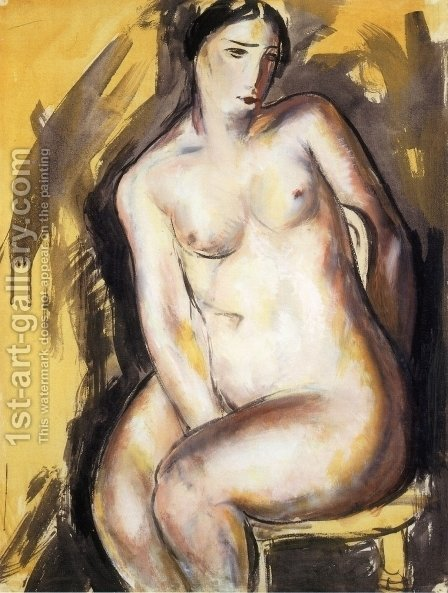 Seated Figure 1927 1928 by Alfred Henry Maurer - Reproduction Oil Painting